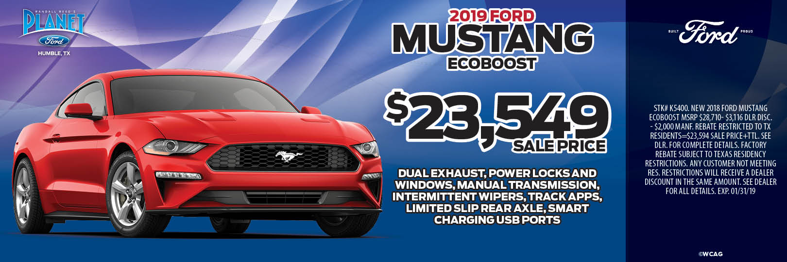 2019 Mustang EcoBoost