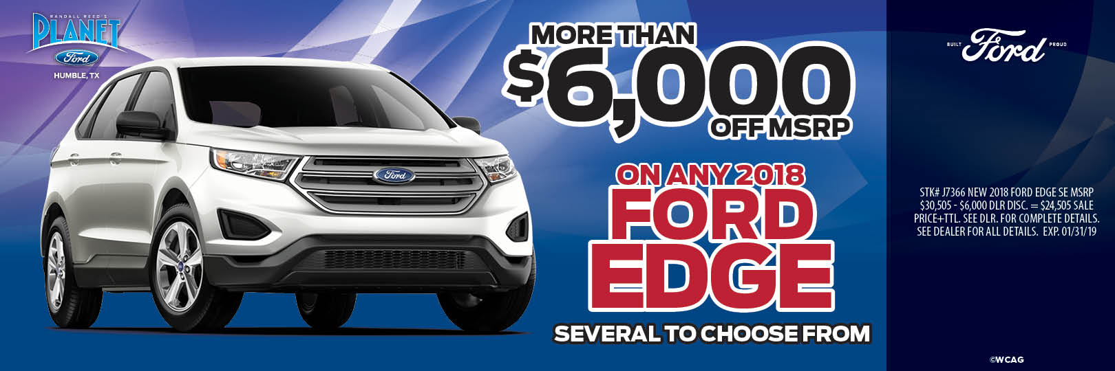 More Than $6,000 Off MSRP On Any 2018 Ford Edge